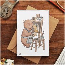 Wombat with a Pearl Earring - Greeting Card