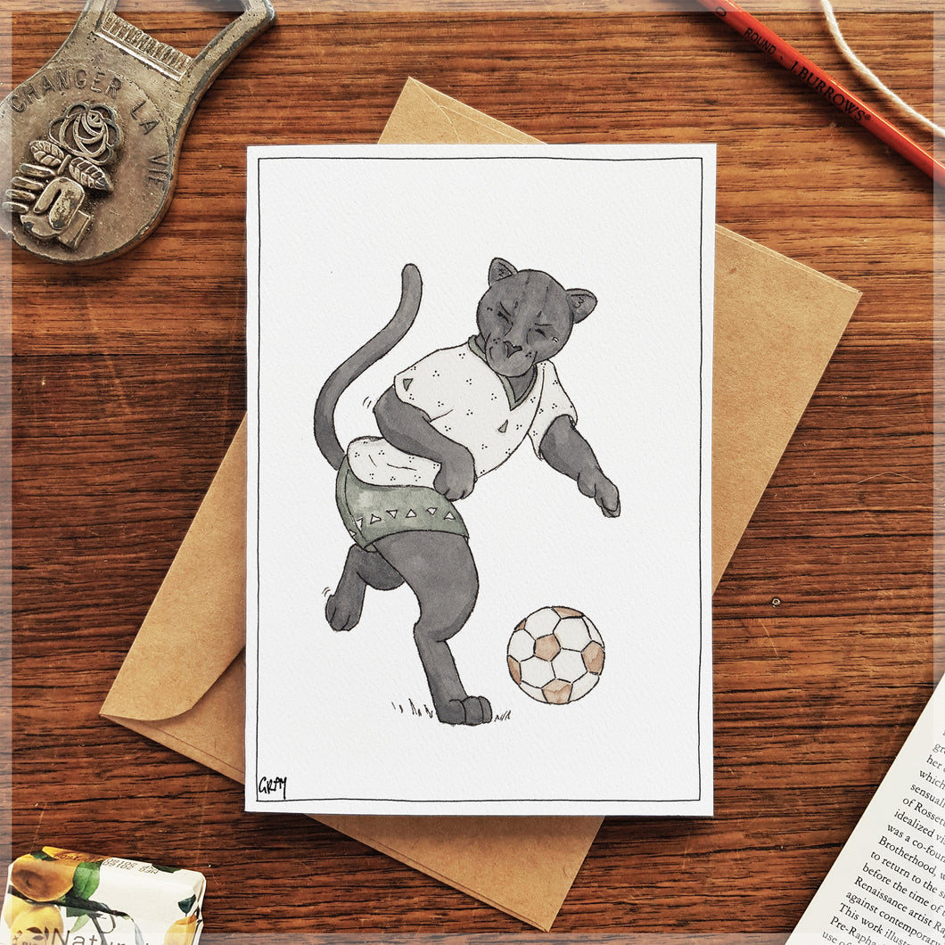 The Jaguar's Football - Greeting Card