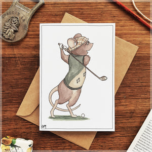 The Mouse's Swing - Greeting Card