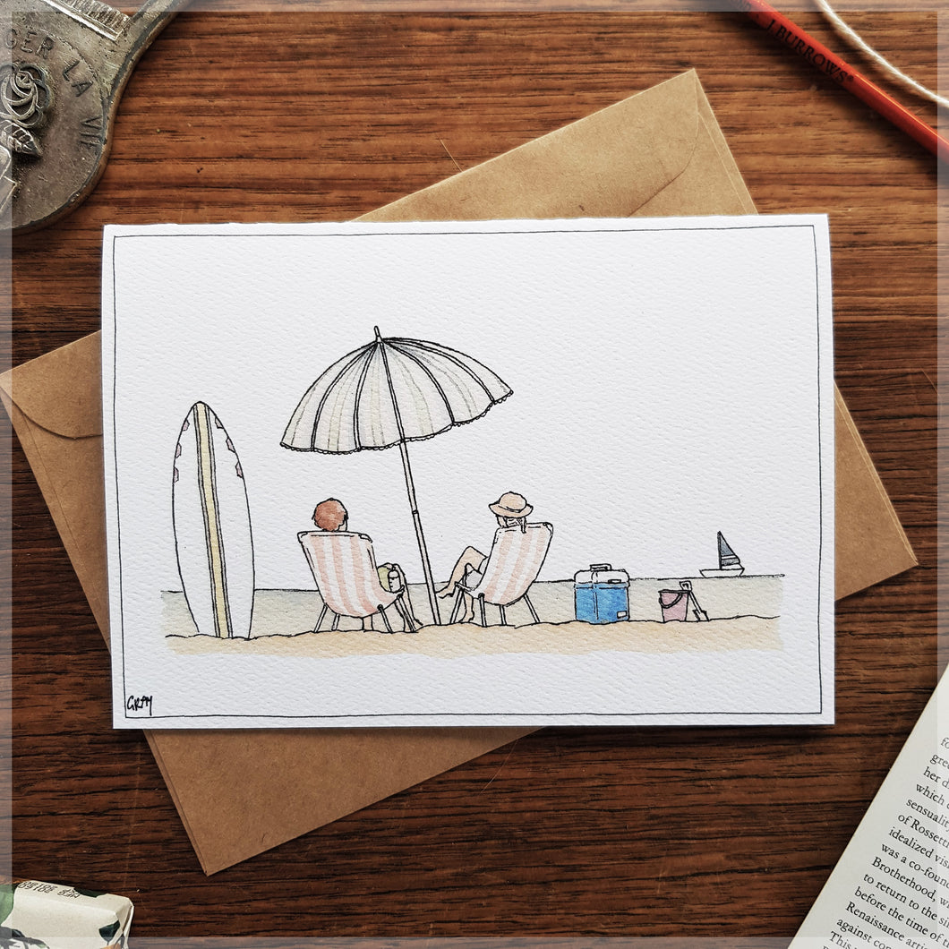 Beach Day - Greeting Card