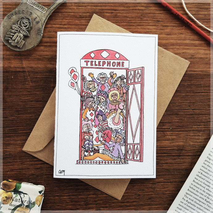 Clown Party  - Greeting Card