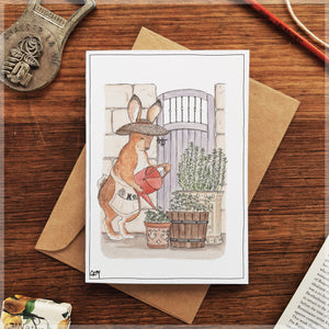 Hiding in the Herb Garden - Greeting Card