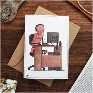 Little Robot Online - Greeting Card