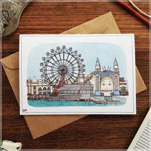 Luna Park - Greeting Card