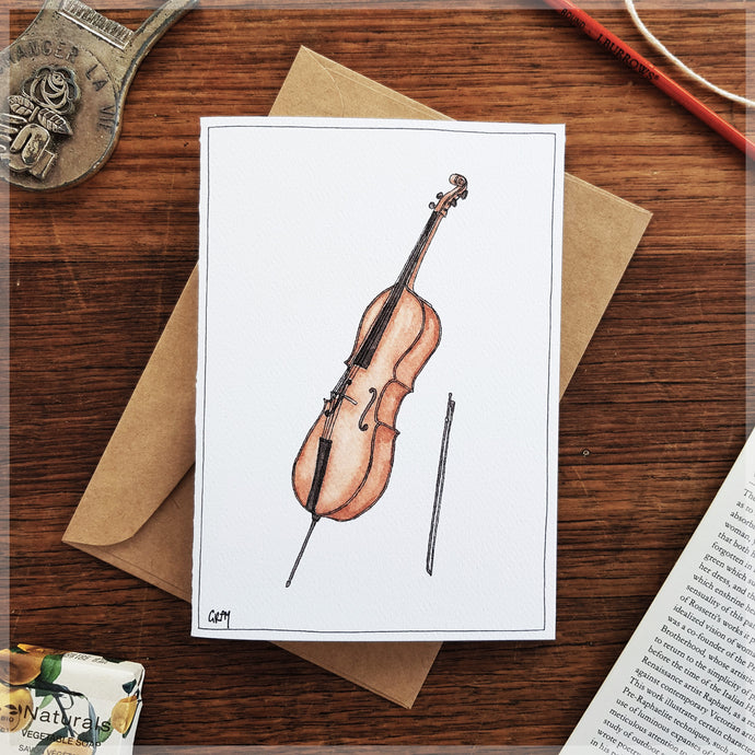 Cello - Greeting Card