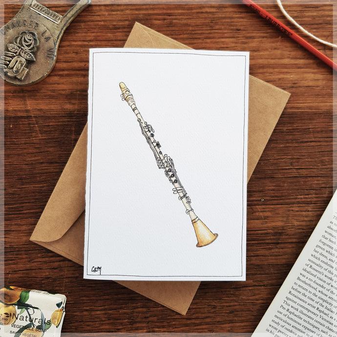 Clarinet - Greeting Card