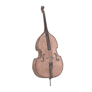 Double Bass - Greeting Card