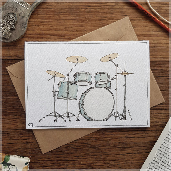 Drums - Greeting Card