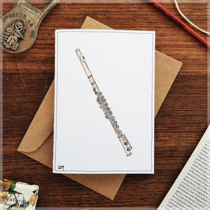 Flute - Greeting Card