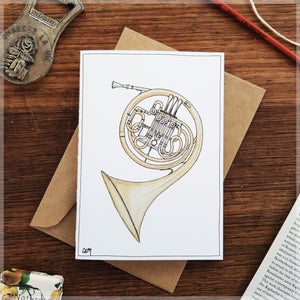 French Horn - Greeting Card