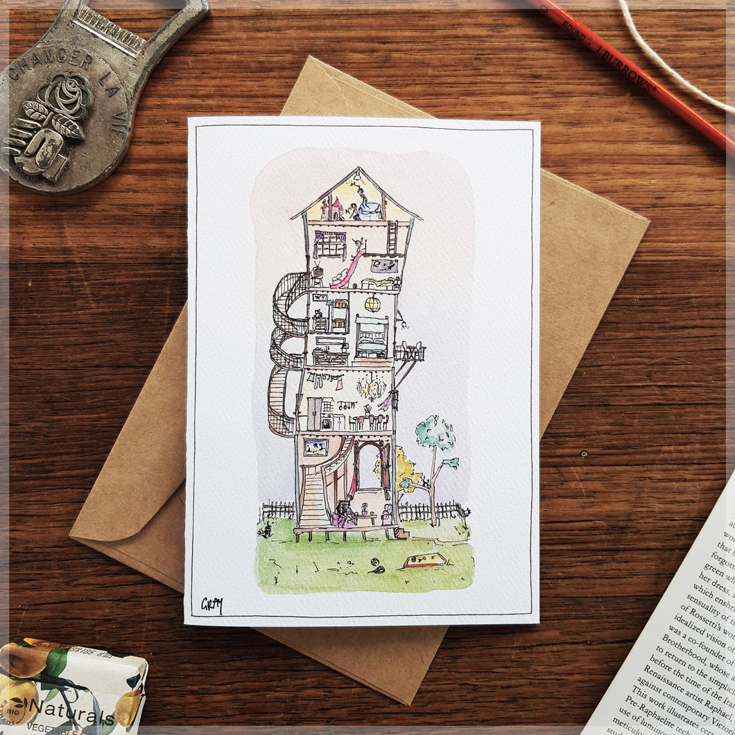 Wacky House - Greeting Card