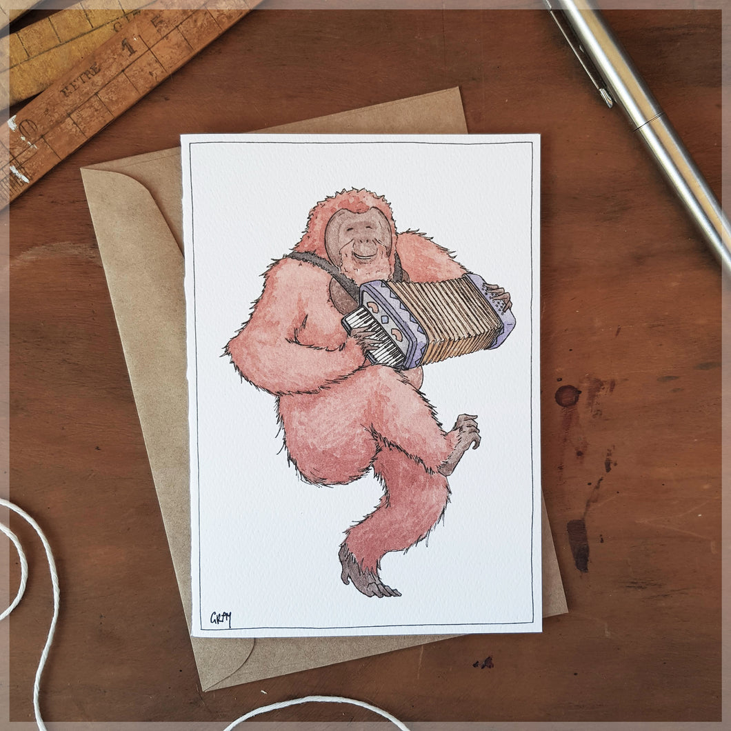 The Orangutan - Greeting Card