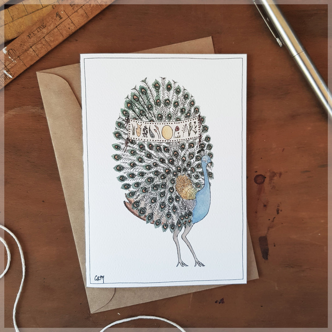 The Peacock - Greeting Card