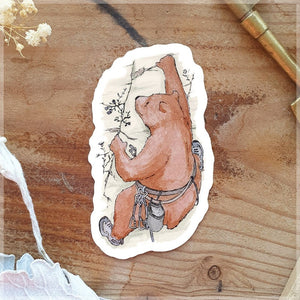 Bouldering Bear ~ Vinyl Sticker