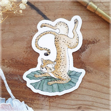 Cheetah Yogi ~ Vinyl Sticker