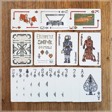 Hand Illustrated playing card pack - steampunk themed - 52 card deck with two robot jokers