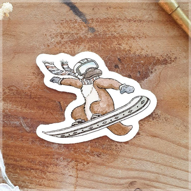 Platy-Boarder ~ Vinyl Sticker