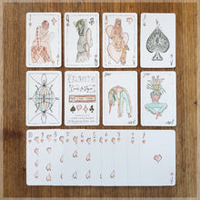 Hand Illustrated playing card pack - vogue fashion themed - 52 card deck with two jokers