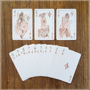 Vogue Fashion Models - Hand Illustrated Playing Cards