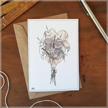 Pink Bouquet - Greeting Card