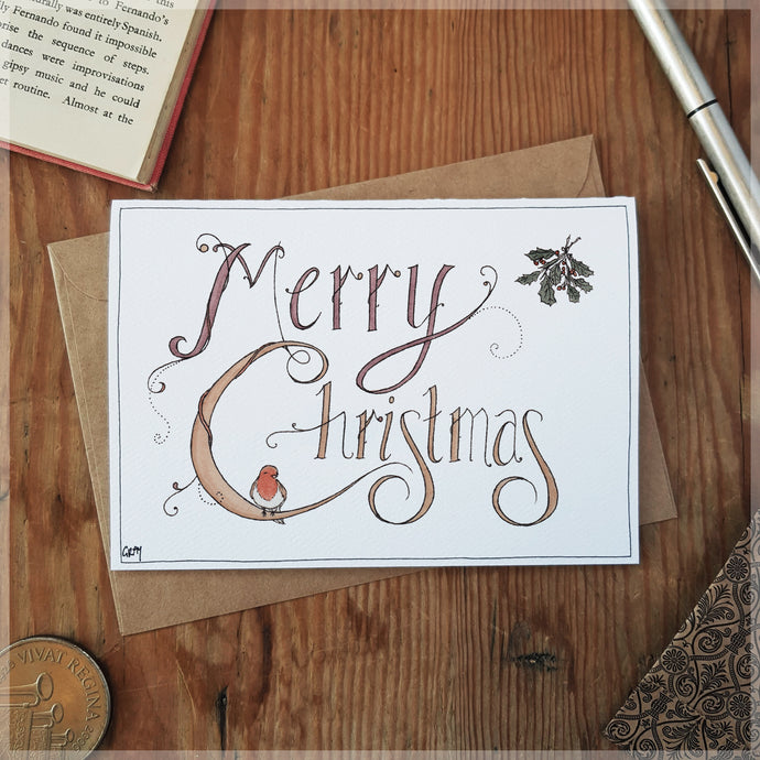 Christmas Robin - Greeting Card
