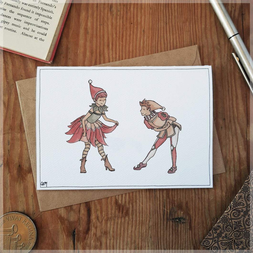 Dance of the Elves - Greeting Card
