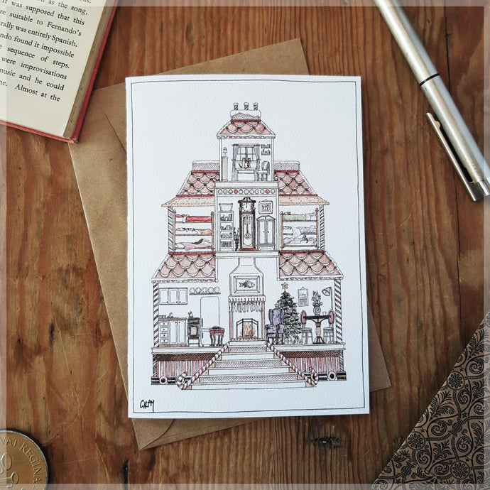 Gingerbread House - Greeting Card