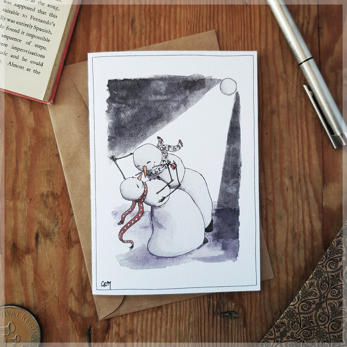 Snow Dancing - Greeting Card