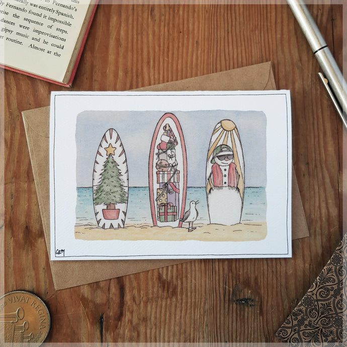 Swell Christmas - Greeting Card