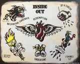 Inside Out - No Spiritual Surrender Tattoo Flash - Jared Gaines Art