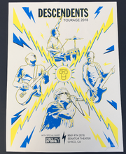 Load image into Gallery viewer, Descendents Tour Poster 2018 (Limited Edition) - Jared Gaines Art