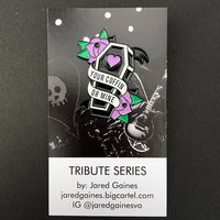 Alkaline Trio Tribue Pin - Purple