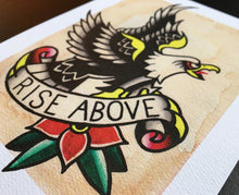 Load image into Gallery viewer, Rise Above Eagle Tattoo Flash - Jared Gaines Art