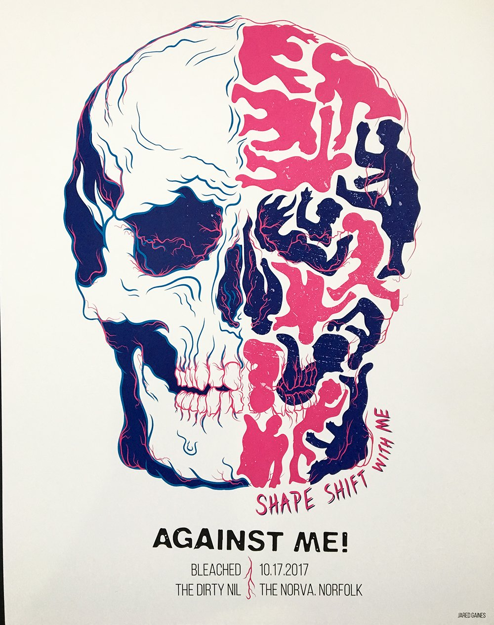 Against Me! 2017 Tour Poster - Jared Gaines Art