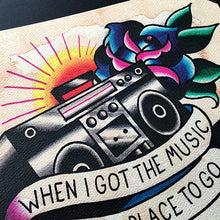 Load image into Gallery viewer, Rancid Radio Tattoo Flash Print - Jared Gaines Art