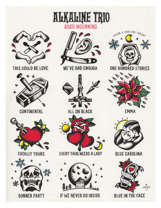 Alkaline Trio Good Mourning Tattoo Flash - Jared Gaines Art