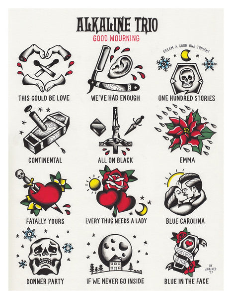 Alkaline Trio tattoo flash good mourning