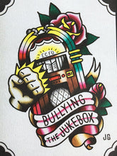 Load image into Gallery viewer, Bouncing Souls - Bullying the Jukebox Tattoo Flash - Jared Gaines Art