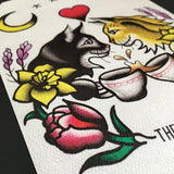The Cure - The Lovecats Tattoo Flash
