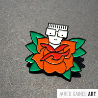 Descendents Rose pin - Jared Gaines Art