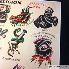 Load image into Gallery viewer, Bad Religion Suffer Tattoo Flash - Jared Gaines Art