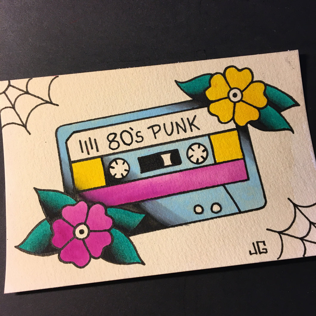 80's Punk Cassette - Jared Gaines Art