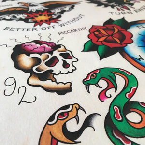 Avail 4am Friday Tattoo flash - Jared Gaines Art