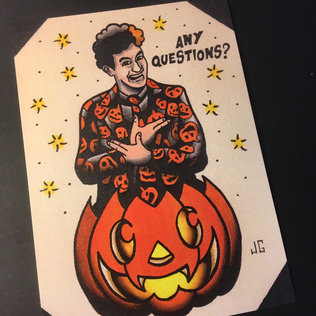 David S. Pumpkins Print - Jared Gaines Art