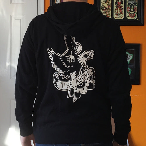 Tattoo Flash Hoodie | Rise Above - Jared Gaines Art