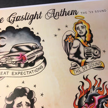 Load image into Gallery viewer, The Gaslight Anthem Tattoo Flash - Jared Gaines Art