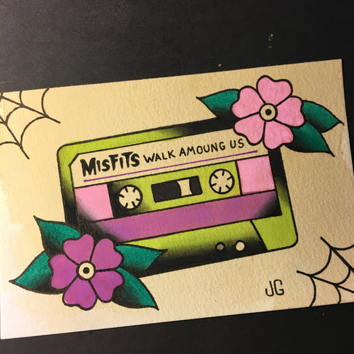 Misfits Cassette - Jared Gaines Art
