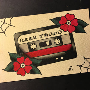 Suicidal Tendencies Cassette - Jared Gaines Art