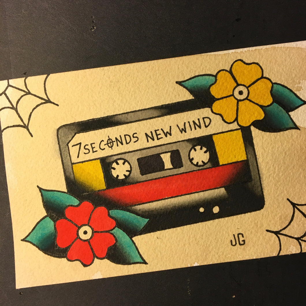 7 Seconds Cassette - Jared Gaines Art
