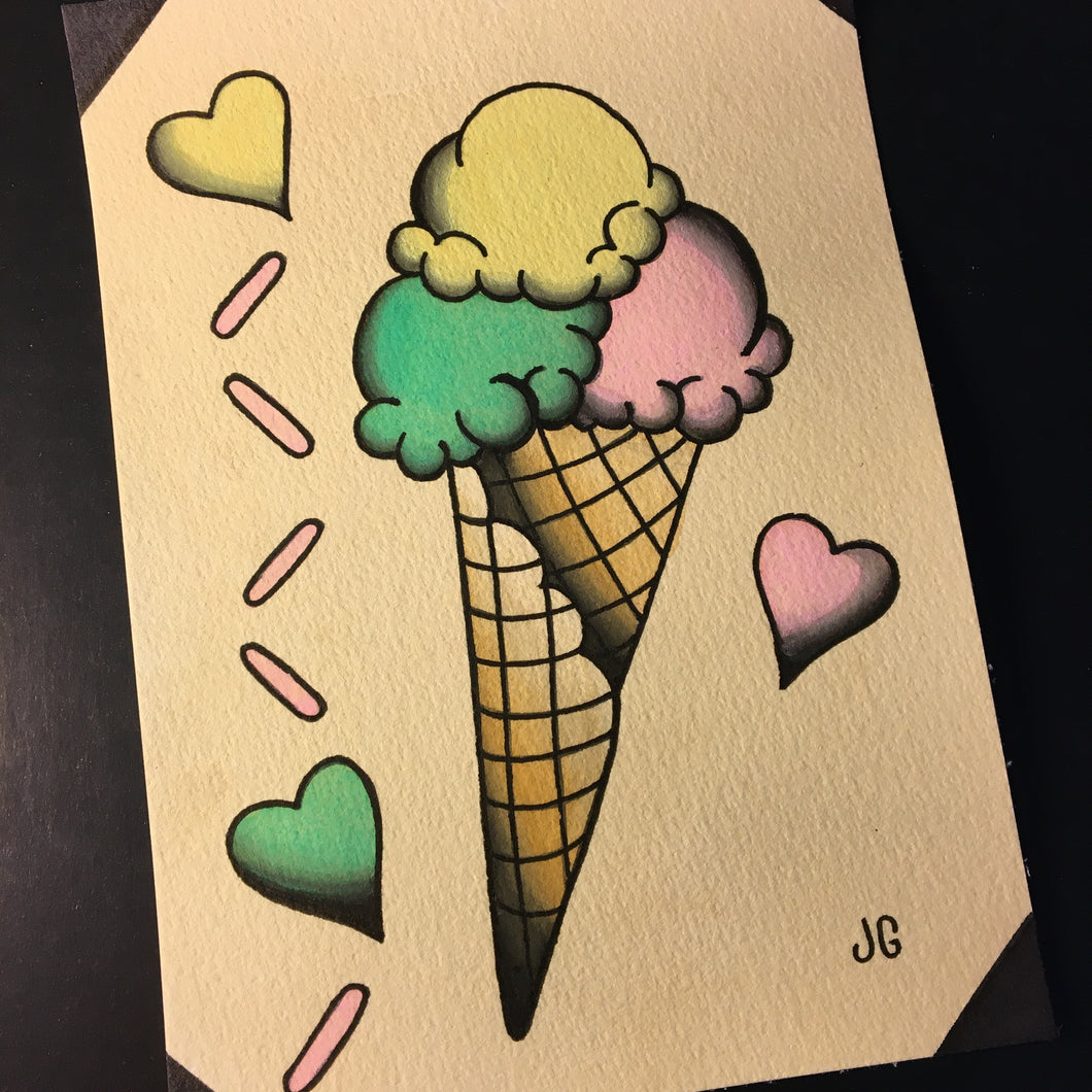 Ice Cream Painting - Jared Gaines Art